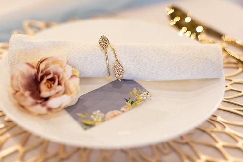 Gold Diamante Napkin Rings HIRE
