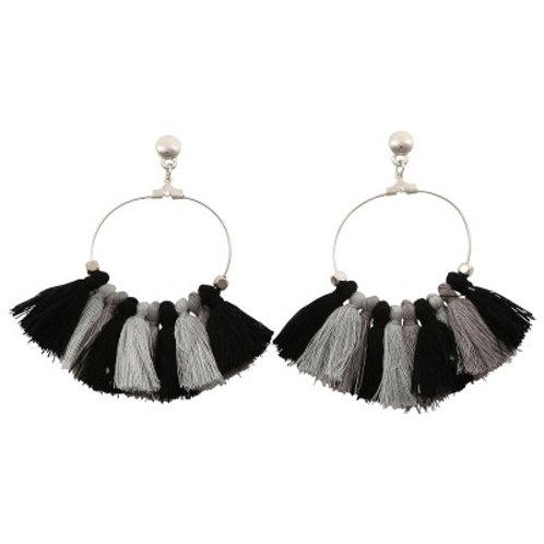 Quilla Earrings Black