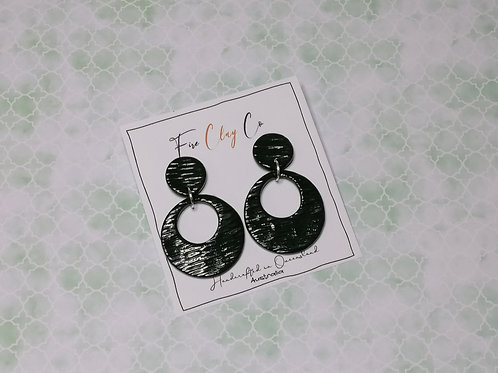 Fire Clay Co Sarina Drop Earrings Olive large