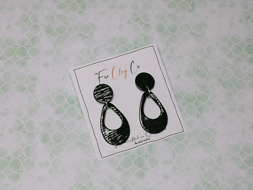 Fire Clay Co Shannon Drop Earrings Olive, large
