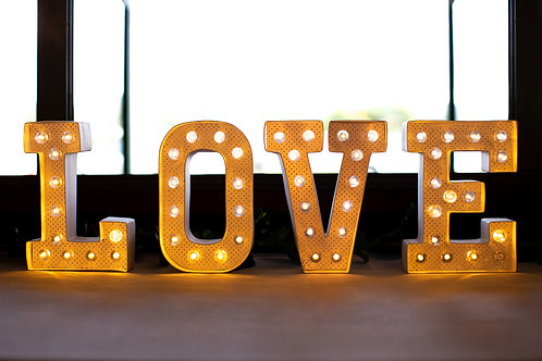 Love sign battery operated HIRE