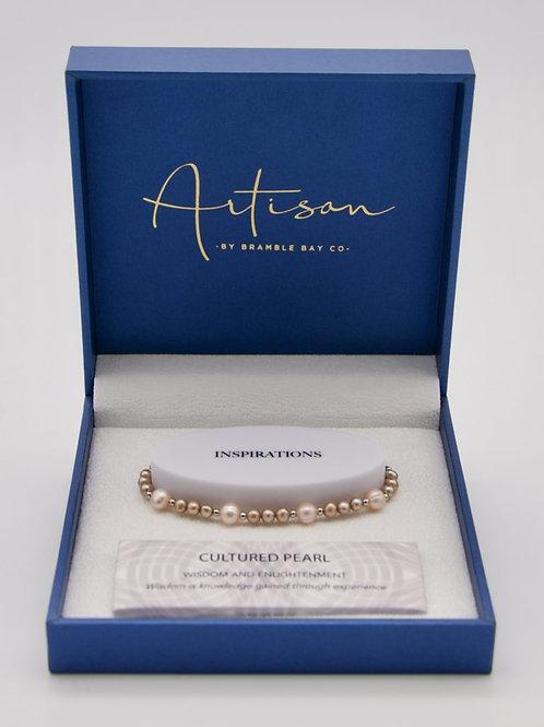 Cultured Pearl adjustable Bracelet