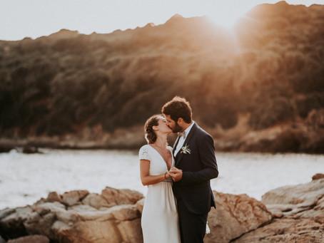 Mariage en Corse, dans les Calanches de Piana.