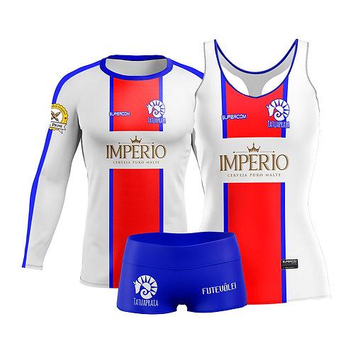 Kit Uniforme Tatuapraia - Térmica, Regata e Shorts - Feminina - PSG