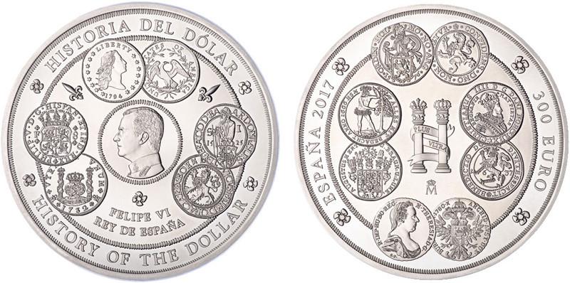 Technische Parameter: 300 Euro, Silber 999/1000, 1007 g (1 kg fein), 100 mm, Auflage: 1.000 in PP, Münzstätte: Real Casa de la Moneda, Madrid.