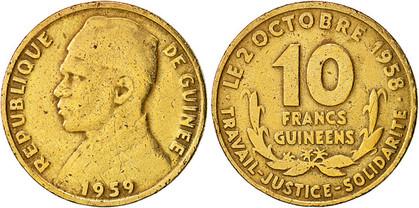 10 Francs 1959, Kursmünze mit Gedenk