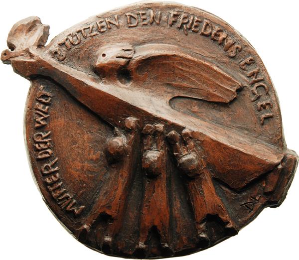 """Dieter von Levetzow, Medaille """"Der Friedensengel"""" (einseitig), 2017, Keramik, Ø 140 mm"""