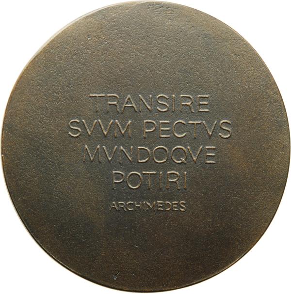 "Marianne Dietz, Medaille ""Maryam Mirzakhani"", 2017, Thermisches Polymer, Ø 68 mm, Revers"