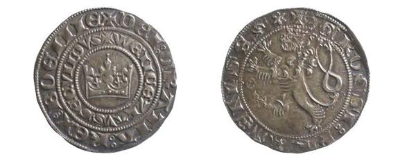 Böhmischer Groschen, 1278–1305 (Inv.-Nr. 2018/0495)