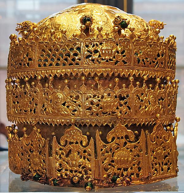 Äthiopische Kaiserkrone (um 1740) – Bildquelle: Victoria and Albert Museum