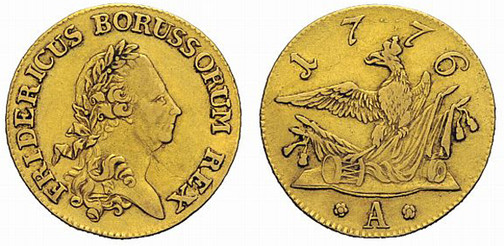 Königreich Preußen, König Friedrich II. (der Große), reg. 1740–1786, Friedrichs d´or (Gold), Berlin 1776