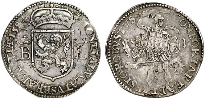 Nr. 247: BRABANT (Prägung der unabhängigen Republik, 1584–1585). Ecu Robustus 1584, Antwerpen. Äußerst selten. Fast vorzüglich. Taxe: 10 000,– Euro