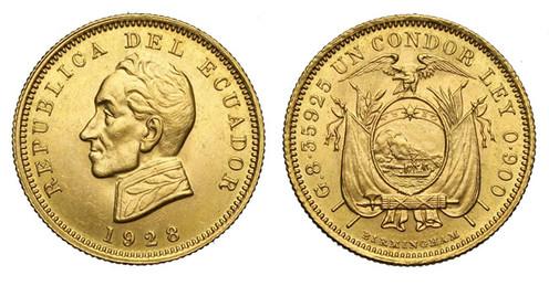 Condor (1928, Ecuador, Gold). Bildquelle: Varesi Numismatica