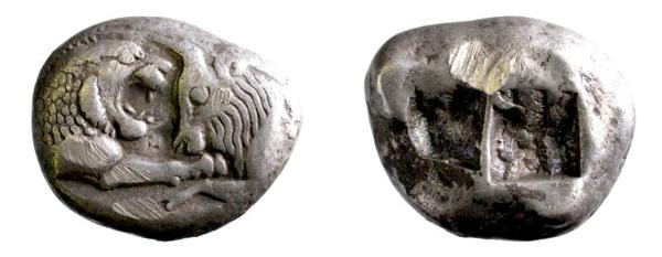 griechischer Stater, 560–546 v. Chr. (Inv.-Nr. 1996/0427)