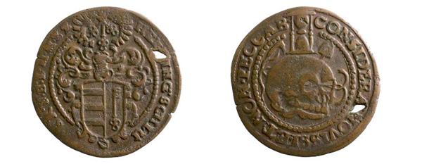 sächsischer Rechenpfennig, 1625–1672 (Inv.-Nr. 2018/0480)