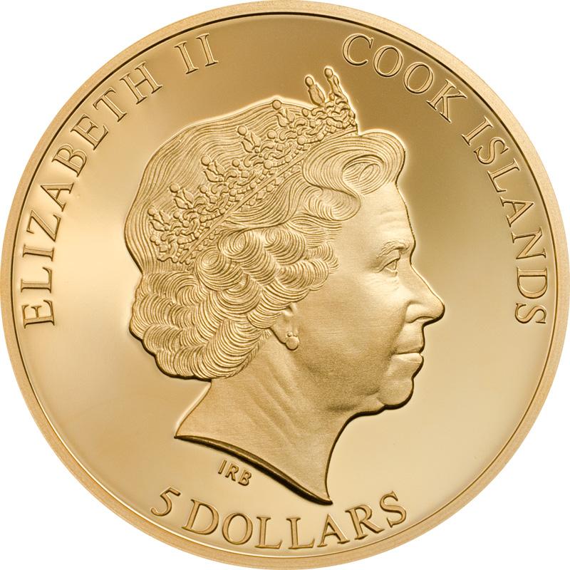 Cook Islands, 5 Dollars 2018. AV