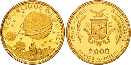 2000 Francs 1969, 10 Jahre Unabhängi
