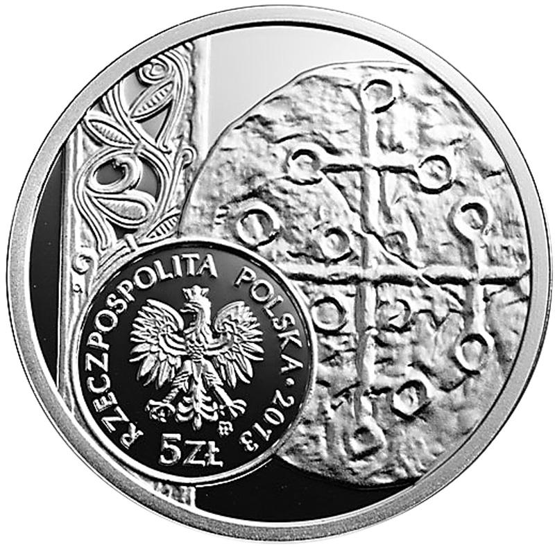 Polen,-5-Zloty,-Denar-Boleslaws-I.-des-Tapferen,-Av.