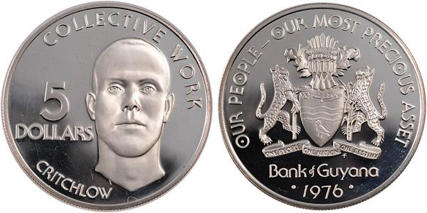 5 Dollars 1976, Prinzipien des Kwanzaa (Collective Work), Silber 500er, 37,76 g, Ø 42 mm