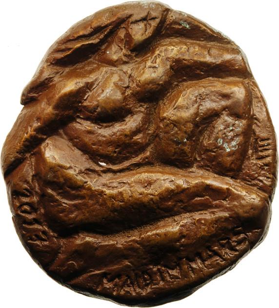 "Eberhard Linke, Medaille ""Maid im Mars"" (einseitig), 2017, Bronze, 93 x 85 mm"