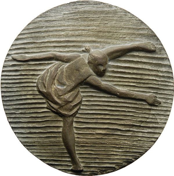 "Anne Karen Hentschel, Medaille ""To be continued"", 2017, Bronze, Ø 95 mm, Avers"