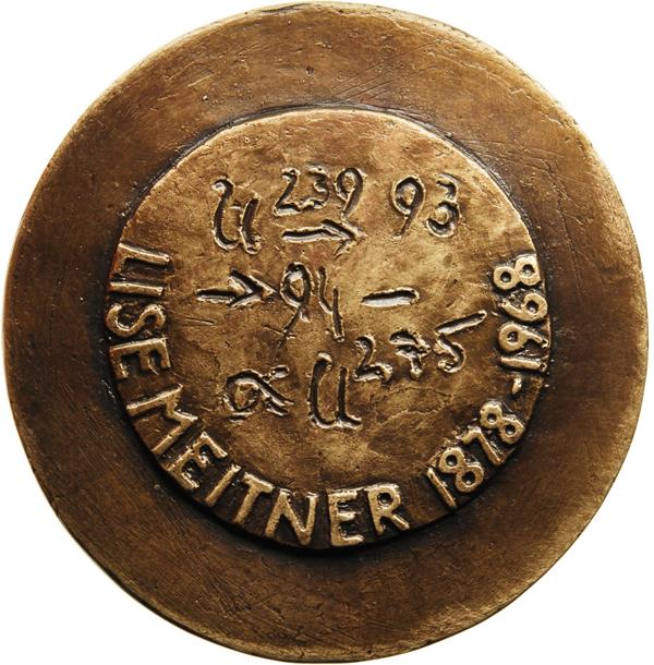 "Marie-Luise Bauerschmidt, Medaille ""Lise Meitner"", 2014, Bronze, Ø 90 mm, Revers"