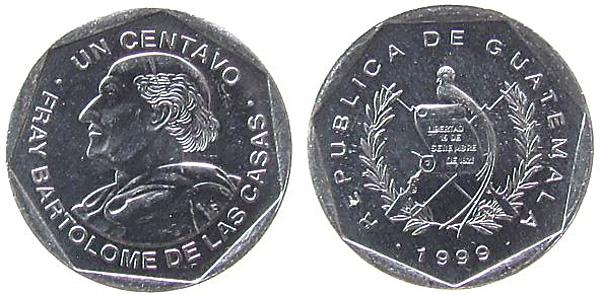 1 Centavo 1999, Kursmünze, Aluminium, 0,80 g, Ø 19 mm