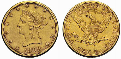 Vereinigte Staaten von Amerika, 10 Dollar (Gold), San Francisco 1898