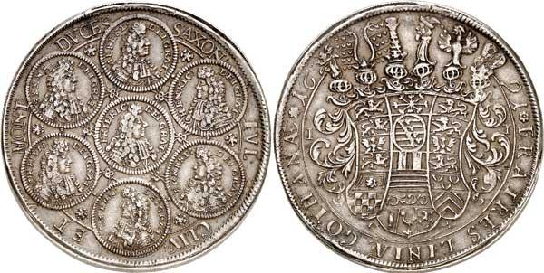 Nr. 5932: SACHSEN-GOTHA. Friedrich I. (1675–1680–1691). Dicker doppelter Reichstaler 1691, Gotha. Unikum? Sehr schön bis vorzüglich. Taxe: 25 000,– Euro