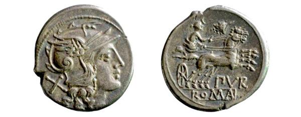römischer Denar, 169–158 v. Chr. (Inv.-Nr. 1981/0546)