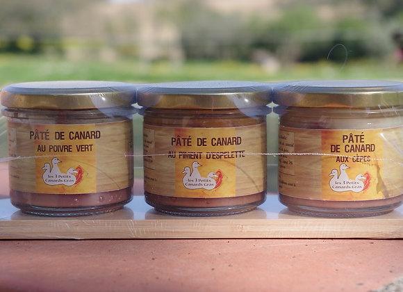 Planchette 3 pâtés de canard 100g