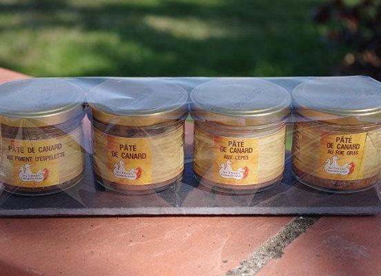 Lot 4 pâtés de canard 100g