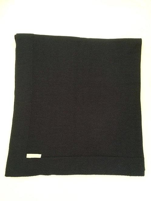 Manta lisa de tricot marinho