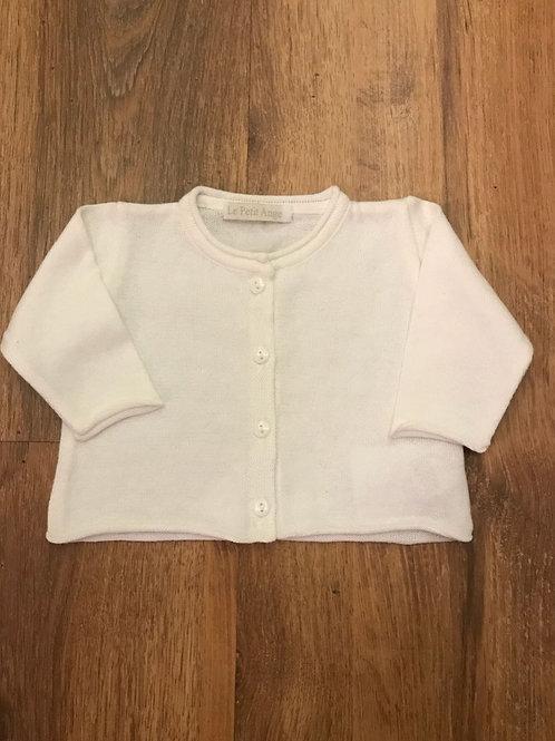Casaco baby tricot liso branco
