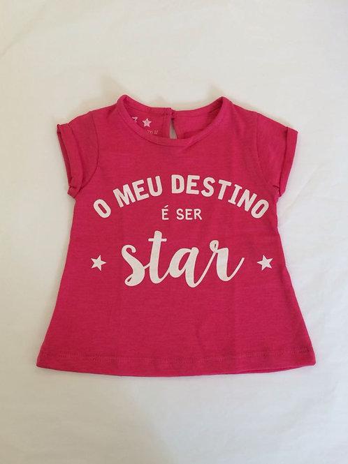 Camiseta bata pink O Meu destino é ser star