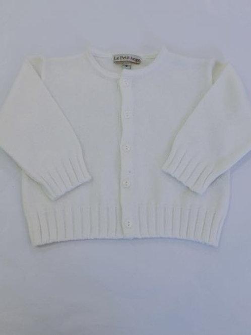 Casaco tricot liso branco
