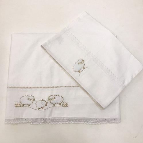 Jogo de lençol berço ovelhas