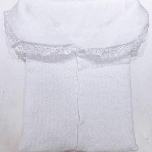 Porta bebê tricot branco