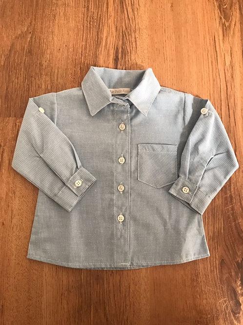Camisa listrada azul e branco