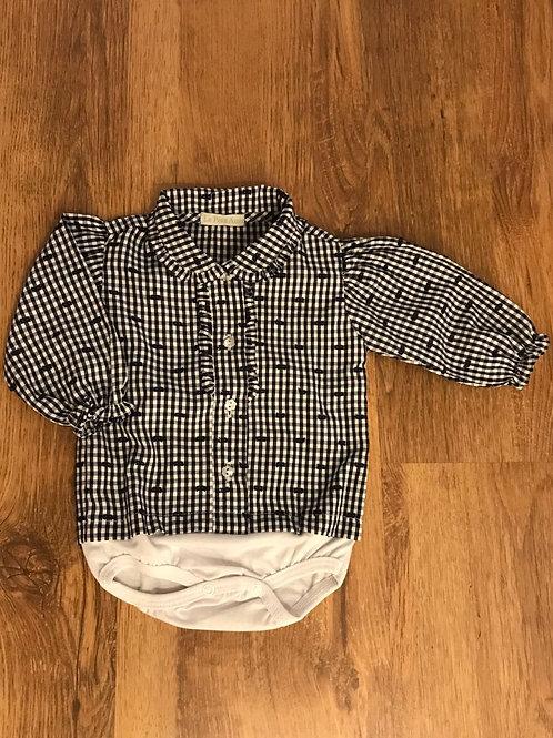 Camisa body xadrez marinho