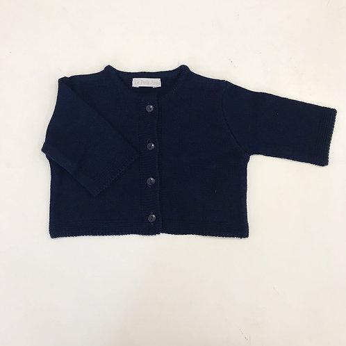 Casaco de tricot liso marinho