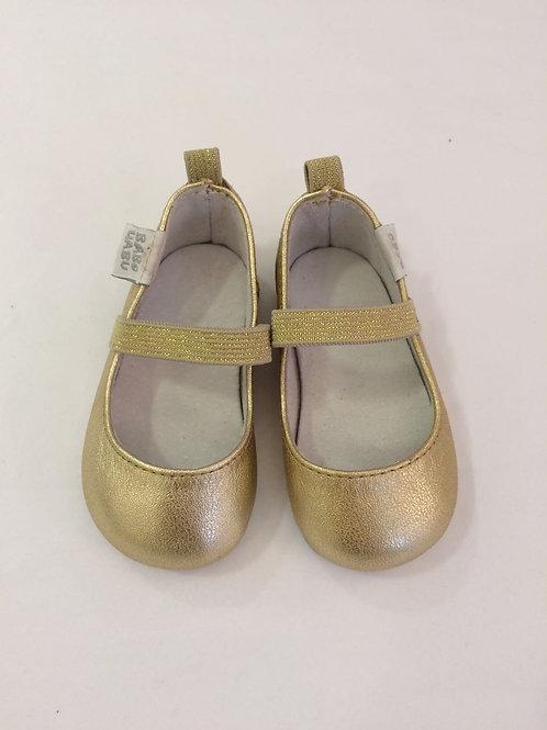 Sapatilha bailarina dourada