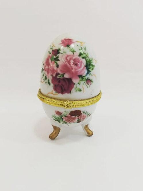 Porta Jóia ovo floral