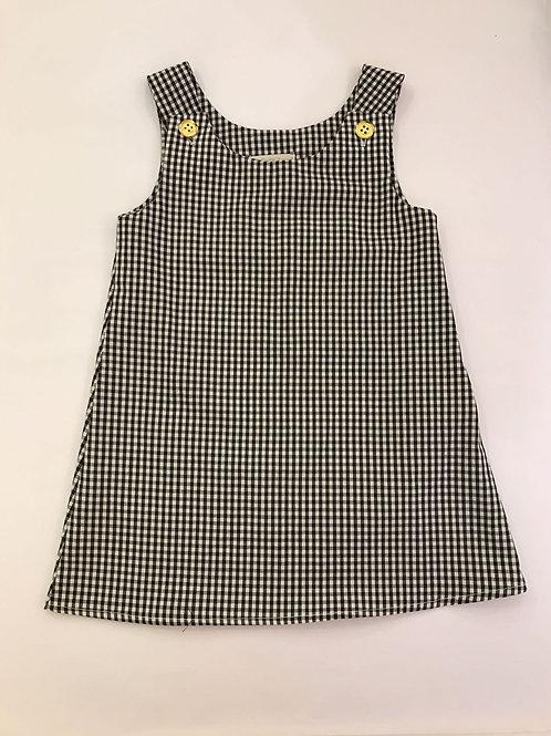 Vestido xadrez branco e preto