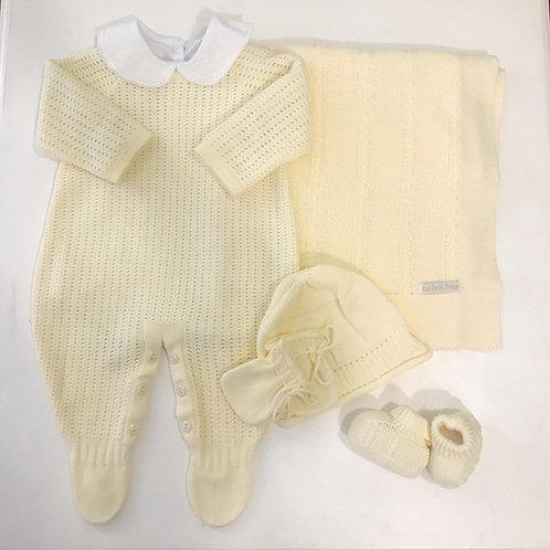 Conjunto Maternidade amarelo unissex