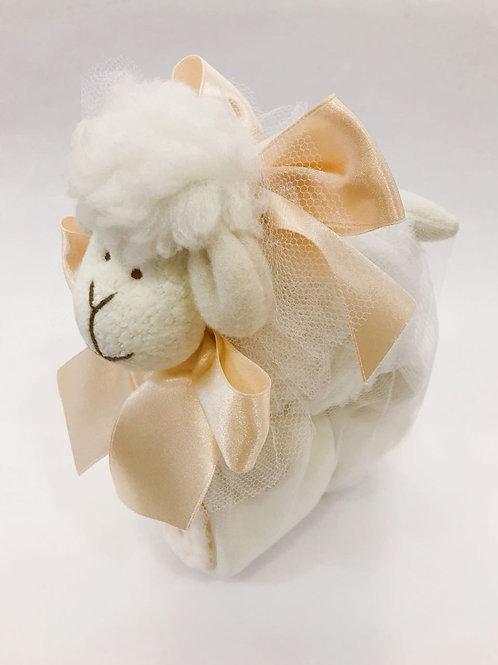 Ovelha com manta soft marfim