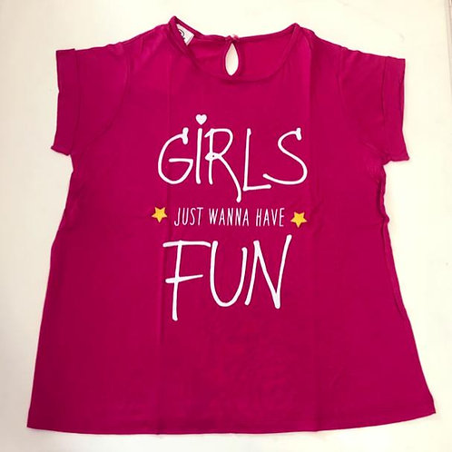 Camiseta feminina Girls pink