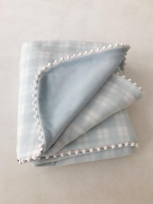 Manta soft azul xadrez