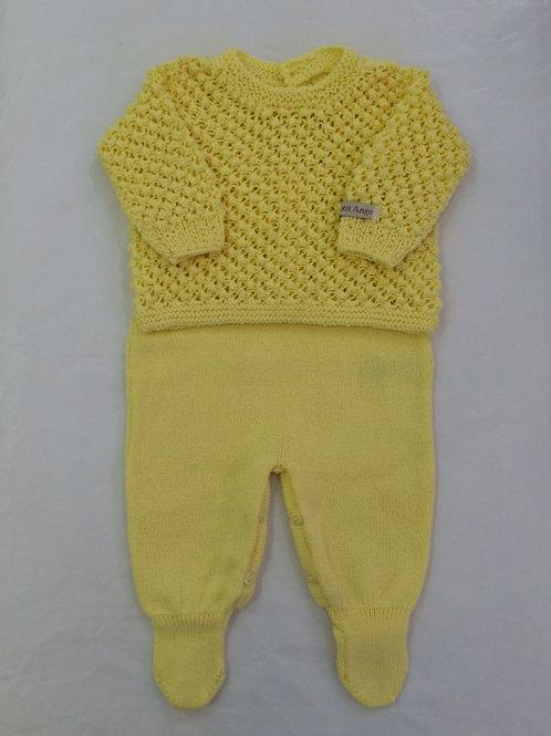 Conj Pipoca amarelo