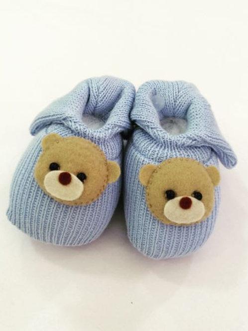 Sapato ursinho azul claro